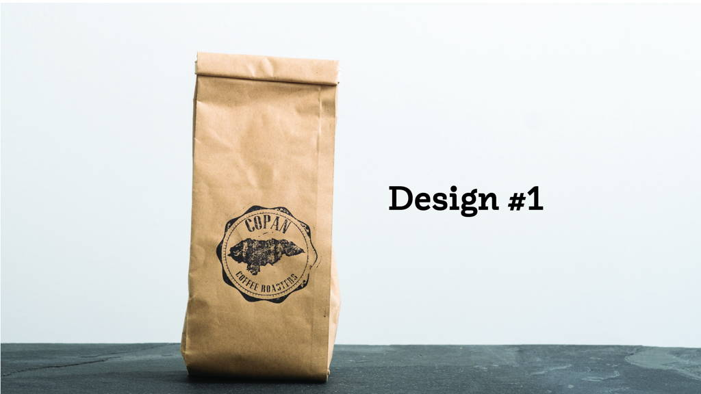 A brown paper bag of coffee.