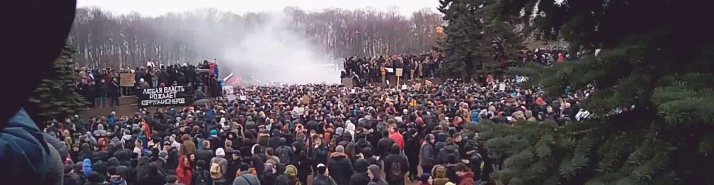 Political protests in St.-Petersburg: Then and Now