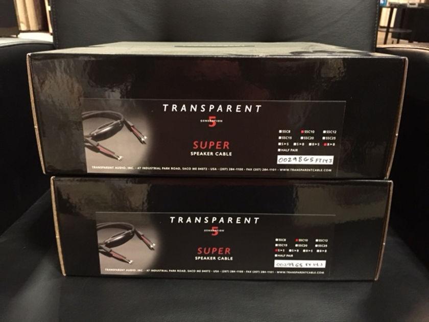 Transparent Audio Super GEN 5 Speaker Cable 10 ft.1 pair B>B.
