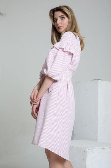 Платье-рубашка с воланами