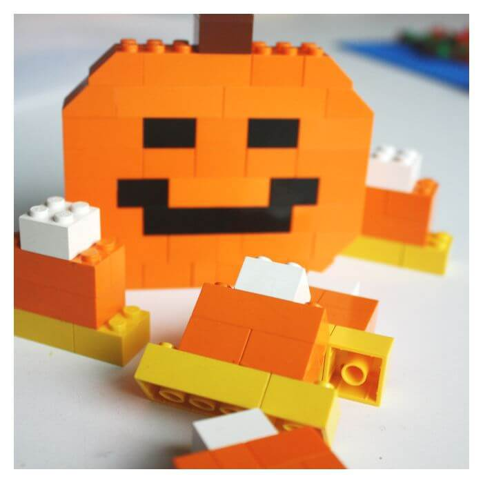 Lego Candy Corn or Jack O' Lantern