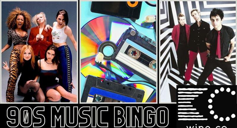 FREE 90's Music Bingo at KC Wine Co Vineyard & Winery in Olathe, KS