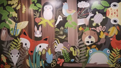 Image of mural with animals