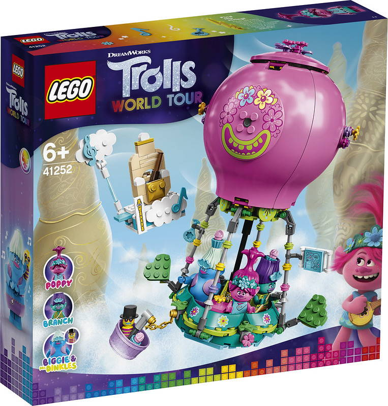 LEGO Trolls 41252 Poppy's Hot Air Balloon Adventure