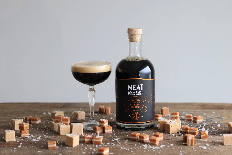 Neat Salted Caramel Espresso Martini