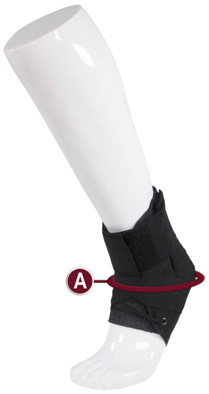 ANKLE STABILIZER MEASUREMENT LOCATION