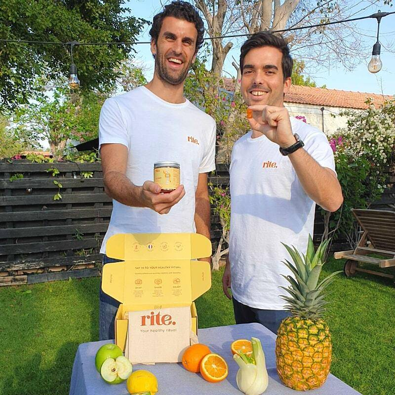 transparency and simplicity are the great values of Guillaulme & Sebastien, the two founders of rite gummy vitamins startup