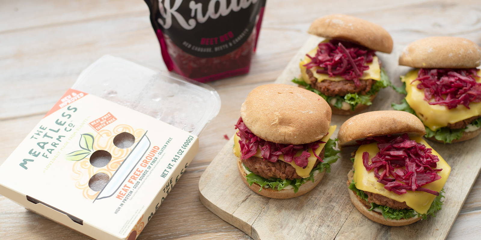 Meatless Farms and Cleveland Kraut sauerkraut come together for a tasty, plant-based Labor Day meal.