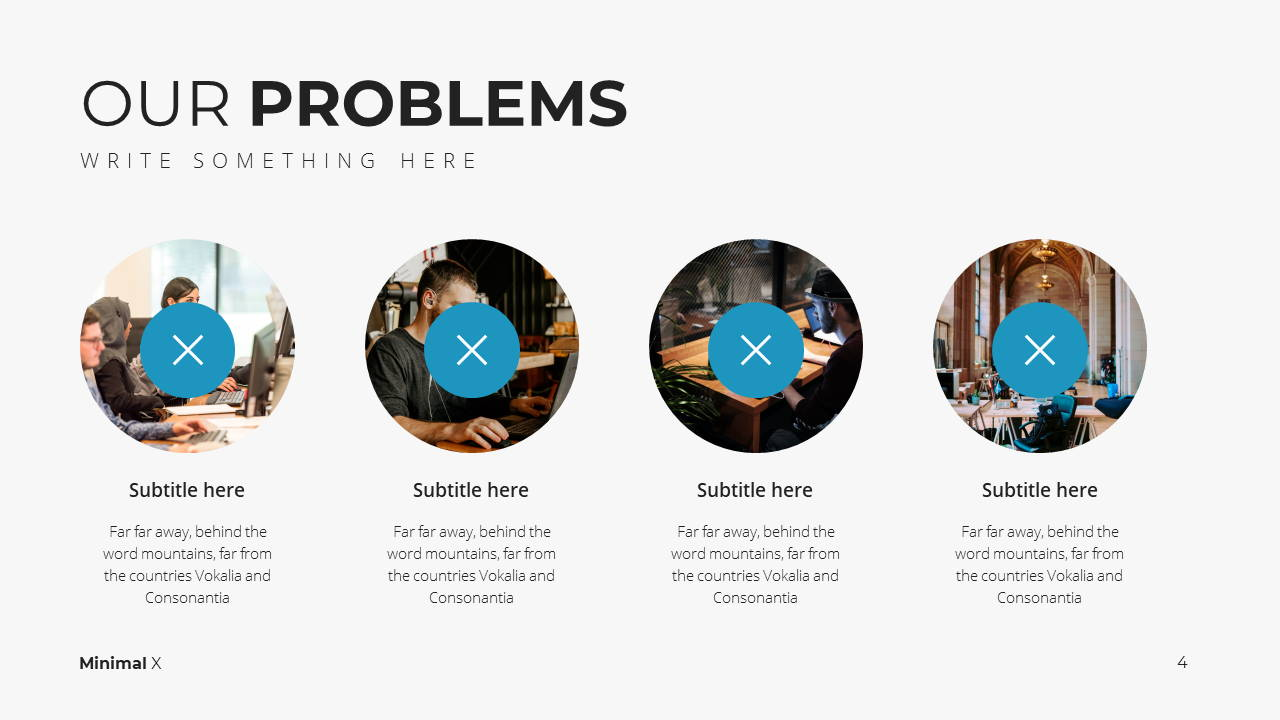 Minimal X Project Proposal Presentation Template Problems
