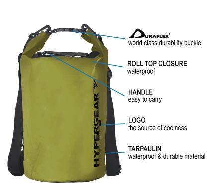 HYPERGEAR Adventure Dry Bag 20L, hiking, camping, outdoor, adventure, activity