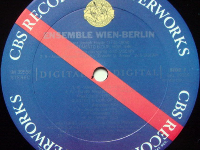 CBS Digital / ENSEMBLE WIEN-BERLIN, - Haydn Divertimento, MINT, Promo Copy!
