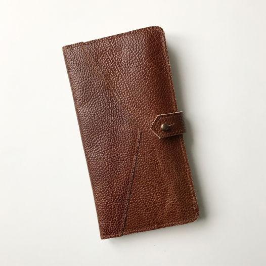 Кожаный кошелек-портмоне Light Brown/Ivory