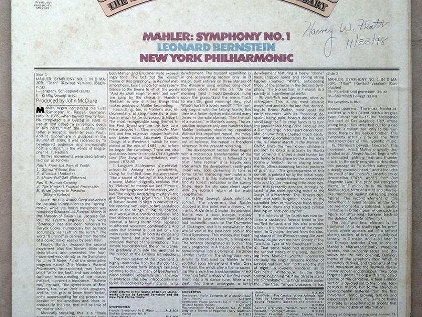 Columbia/Bernstein/Mahler - Symphony No.1 / NM