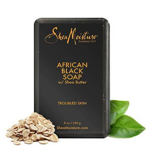Shea Moisture's African Black Soap with shea butter for troubled skin