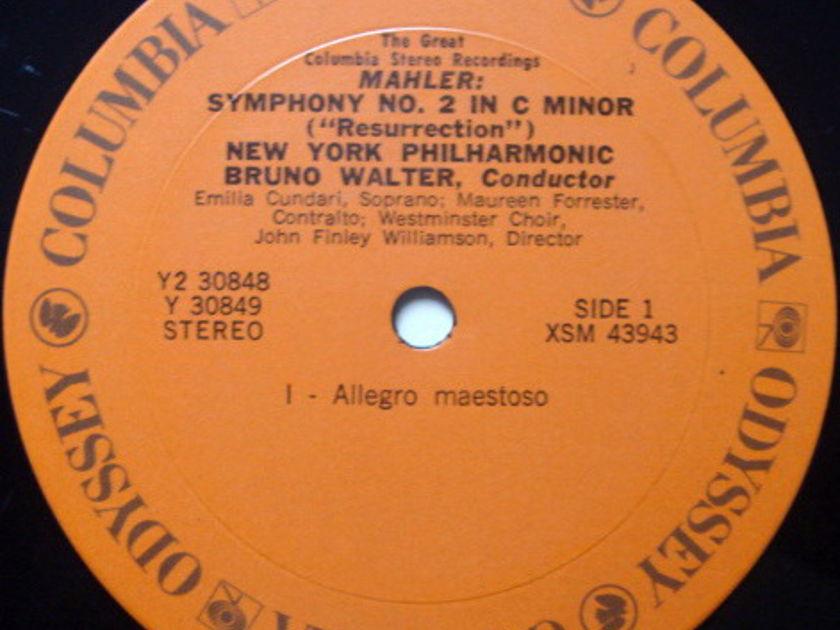 Columbia Odyssey / BRUNO WALTER,  - Mahler Symphony No.2 Resurrection, NM, 2 LP Set!