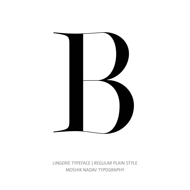 Lingerie Typeface Regular Plain B