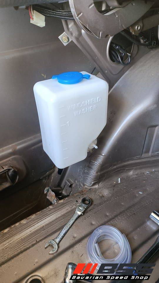 Washer Bottle Relocation E30 Bavarian Speed Shop