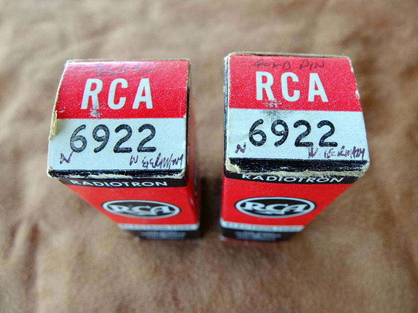 Siemens/RCA 6922 Gold Pins in Boxes 1960's