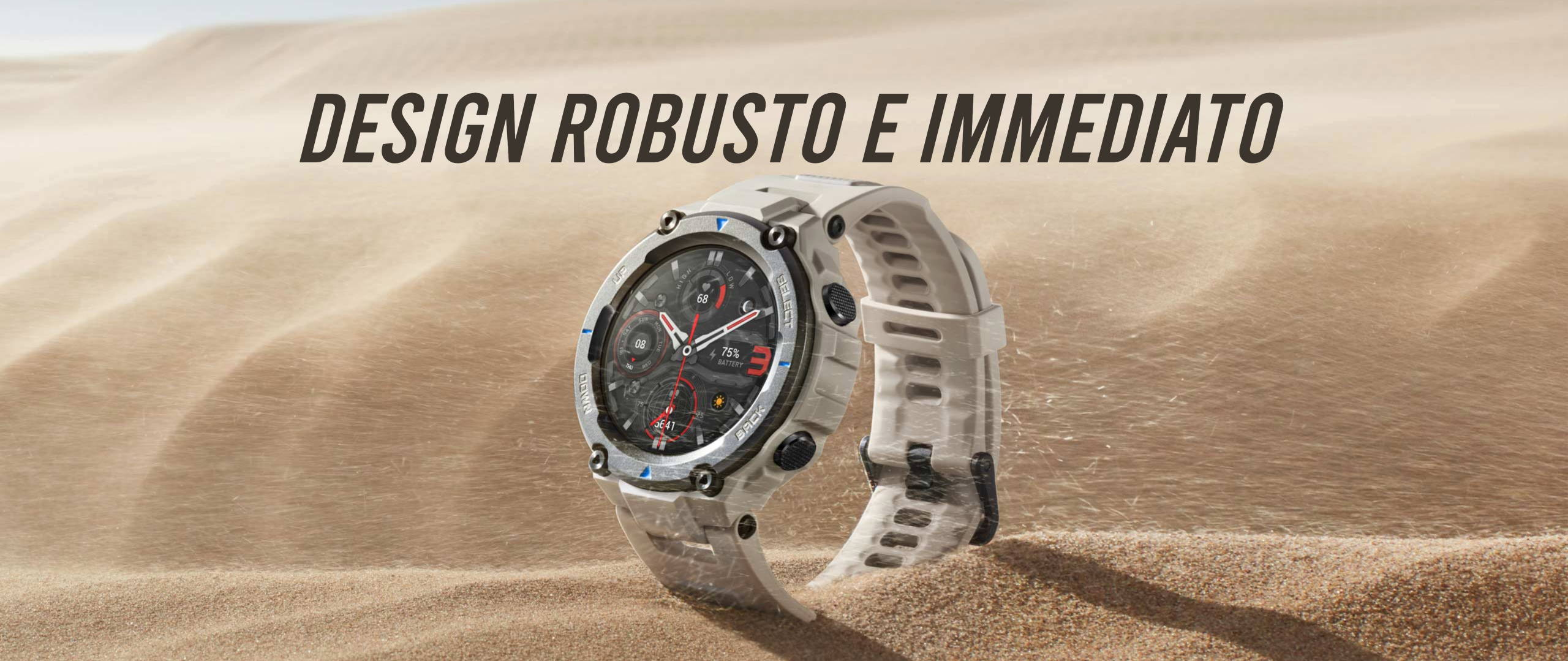Amazfit T-Rex Pro - Design Robusto E Immediato.