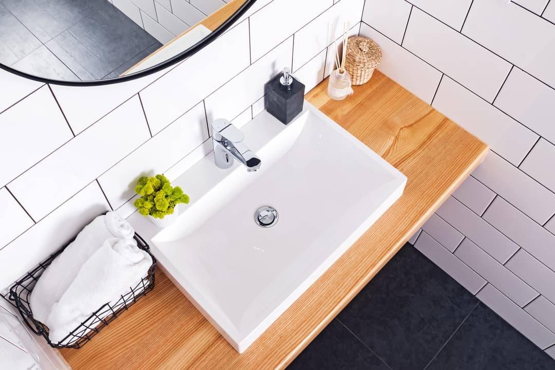 meuble vasque salle de bain bois massif