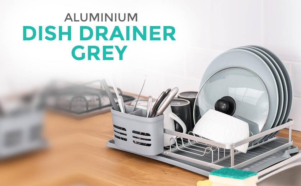 Aluminium Dish Drainer Grey