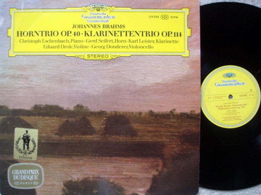 DGG / ECHENBACH-SEIFERT-DROLC, - Brahms Horn Trio Op.40, NM!