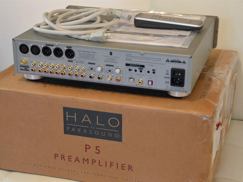 Parasound Halo P5 2.1 Channel Stereo Preamplifier (Silver)