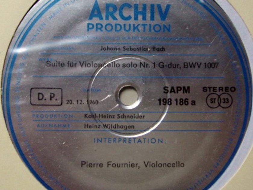 1st Press Archiv / FOURNIER, - Bach Suites for Cello Solo No.1 & 2, NM!