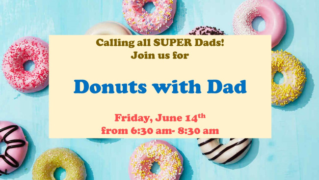 Donuts with Dad, Primrose School of Pearland, June 14th 2019