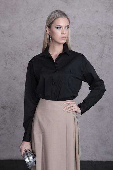 Блузка черная Bonali 3100-0402