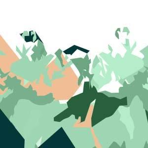 Foulard bandeau en soie Collection la montagne virginie riou