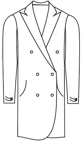 Tailormate   klassisk frakke dobbeltradet
