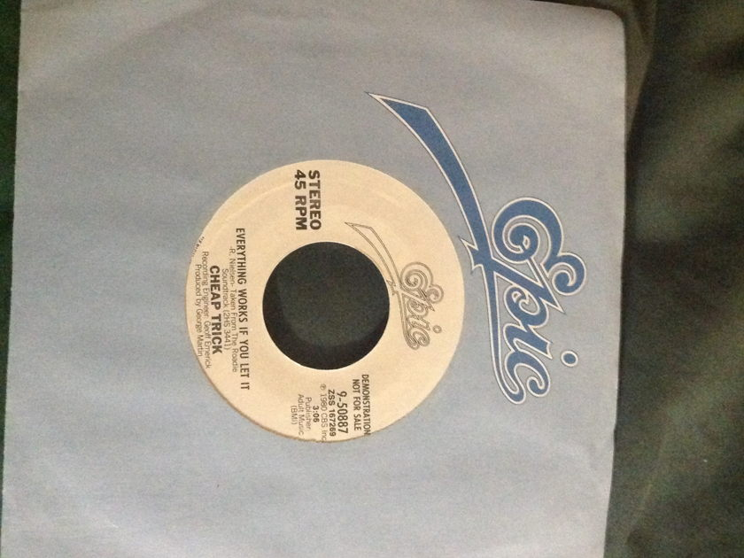 Cheap Trick - Everything Works If You Let It Promo 45 George Martin