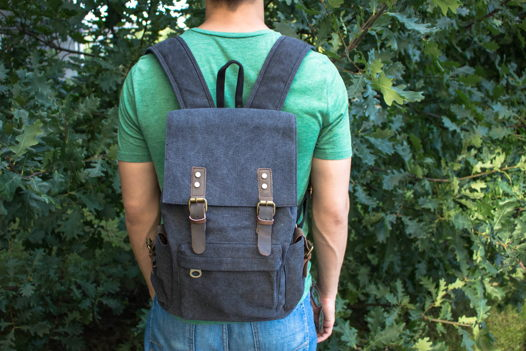 Холщовый городской рюкзак