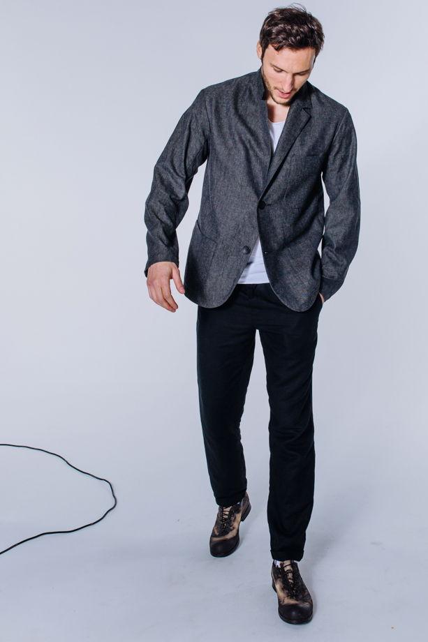 Не классический серый пиджак - #88