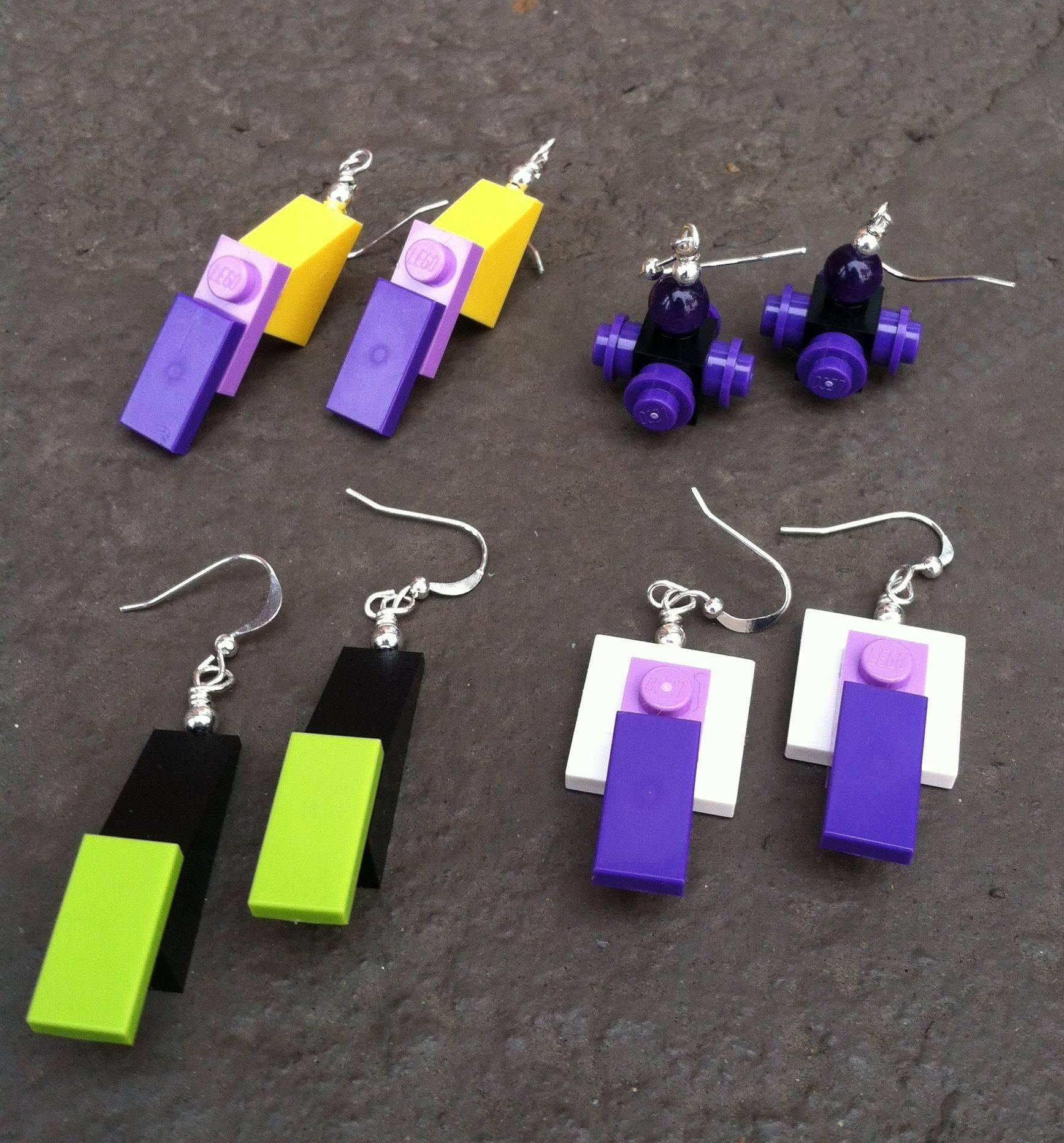 Adorable DIY Lego Earrings
