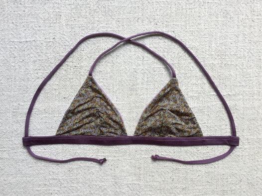 Двухсторонний купальник Berawa V3 - Shiny Lilac Floral ТОП