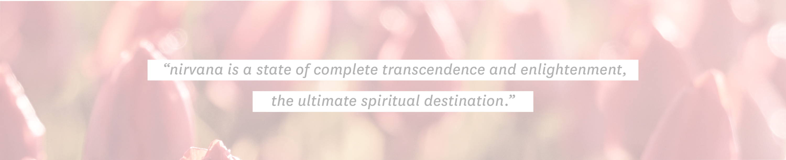 """nirvana is a state of complete transcendence and enlightenment, the ultimate spiritual destination."""