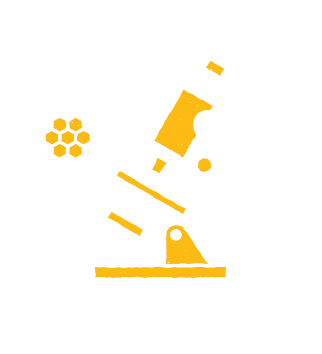 scientist lab tested honey dispenser icon