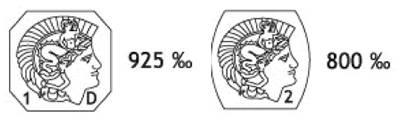 Le poinçon tête de minerve des bijoux en argent 925 ou 800