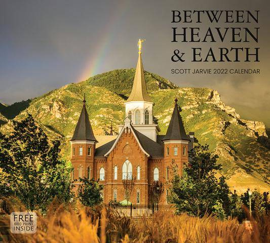 2022 Calendar featuring a photo of the Provo City Center Temple against a green hill.