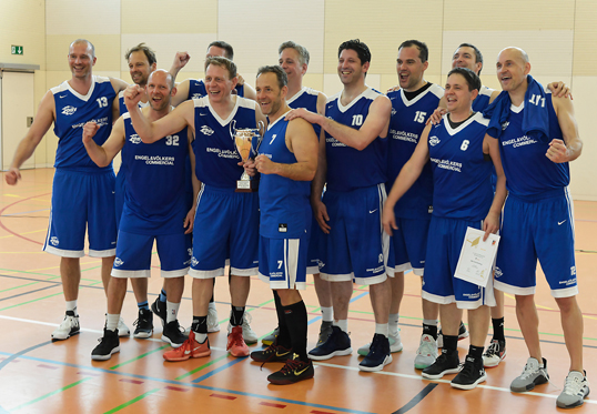 Berlin - Deutscher Meister 2019: Die Ü45-Basketballer des DBV Charlottenburg, sponsored by E&V