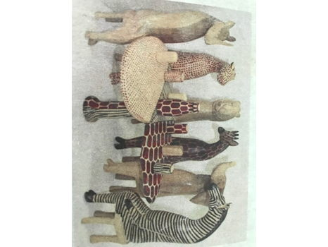 Carved Wooden Animal Party Set