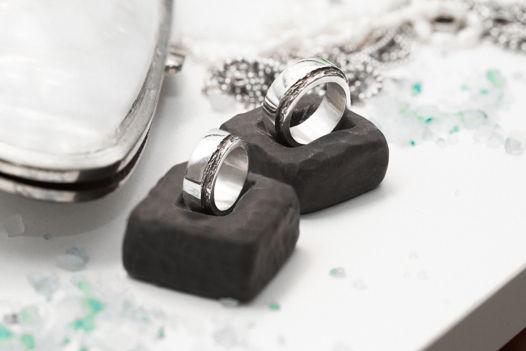 """Обручальные кольца """"Слои и волны"""""""