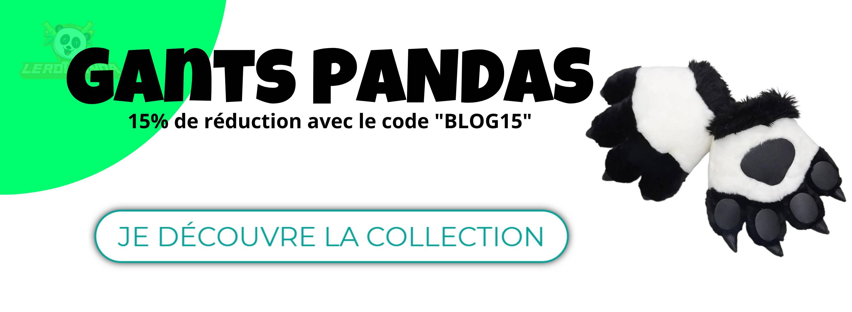 collection de gants panda
