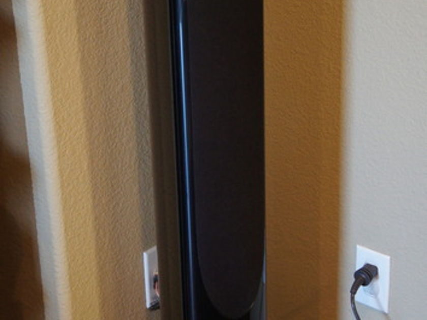 B&W XT4 Black Thin Floorstanding Speakers