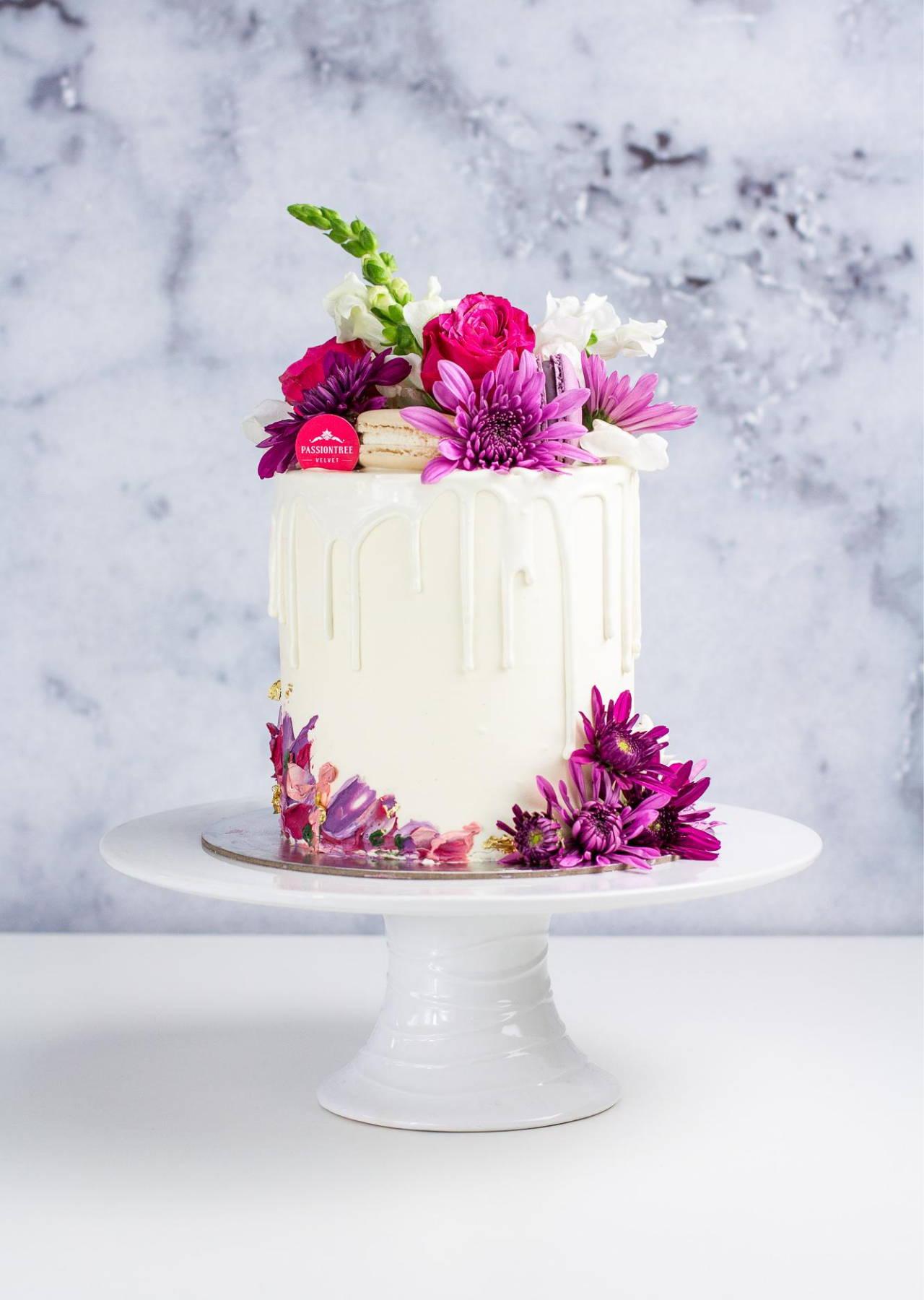 "6"" Purple Palette Floral Cake"