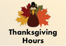 Image for All Locations Closed Thursday, Nov. 23
