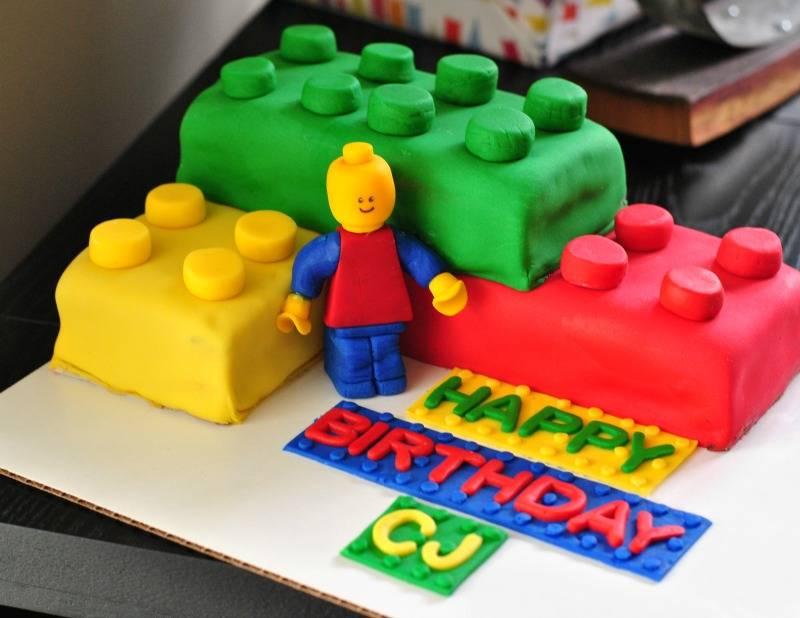LEGO Large Brick Cake