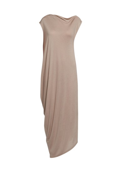 Трикотажное асимметричное платье